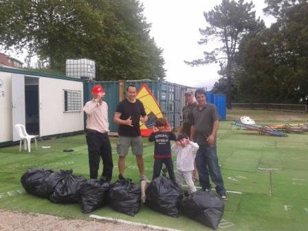 El año pasado en un momento recogimos gran cantidad de resíduos...