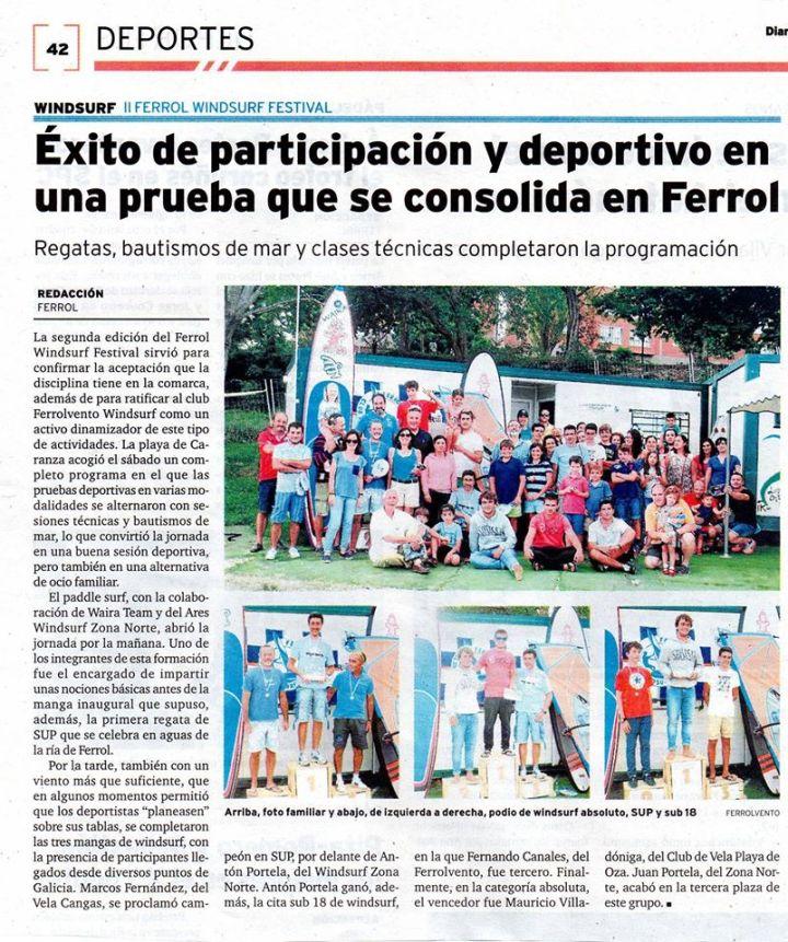 La noticia en el diario de Ferrol